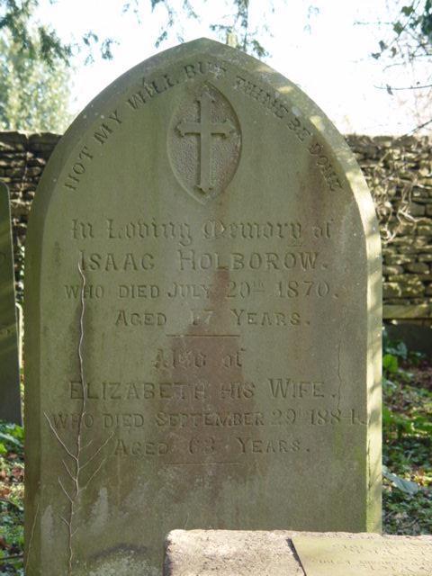 Isaac Holborrow gravestone St Mary's Tetbury.