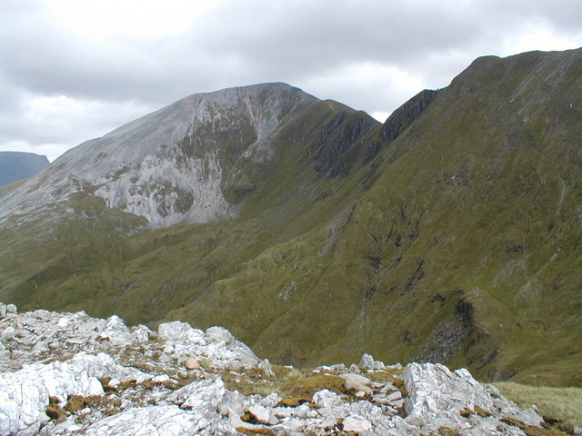 The Mamores from Stob Ban