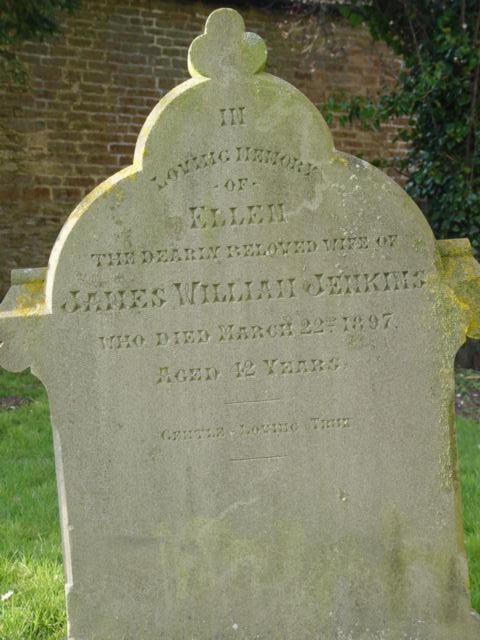 Jenkins gravestone St Mary's Tetbury.
