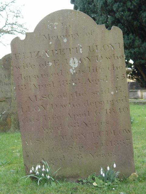 Lloyd gravestone St Mary's Tetbury.