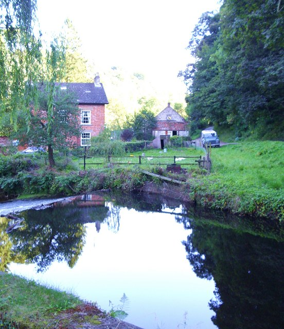 Weir and mill race on the River Dove
