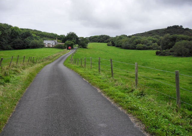 Lane above East Creech