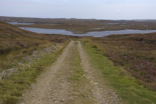 Track to Roisinis and Loch Theirmeadail