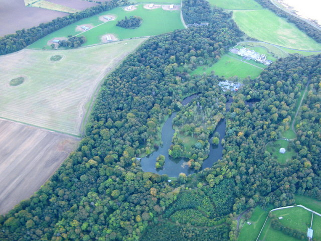 Gosford House and grounds from the air