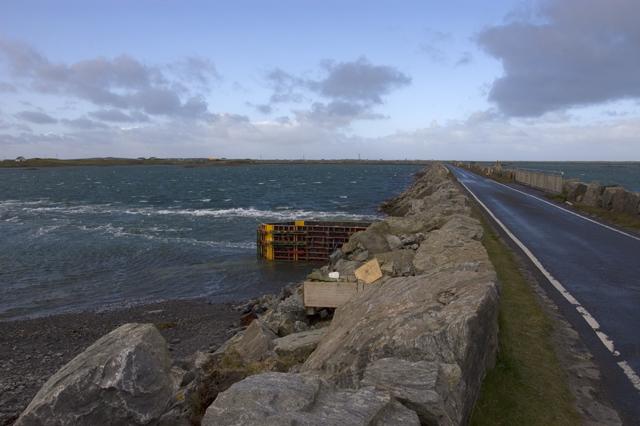 Benbecula Causeway at Eilean nan Clach Corr