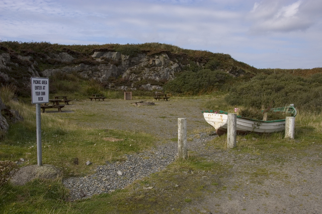 Picnic site on the road to Port Pheadair