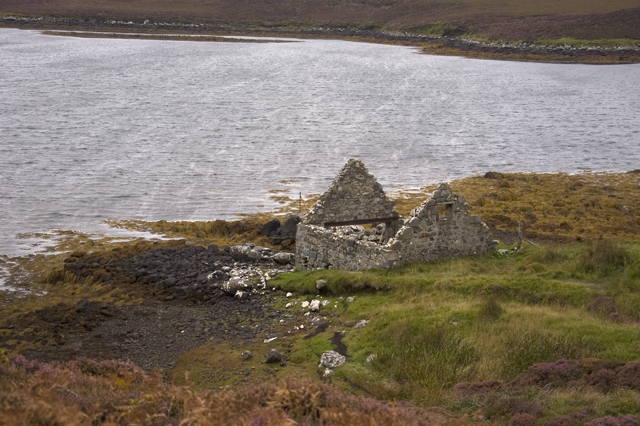 Boathouse and Loch Langais