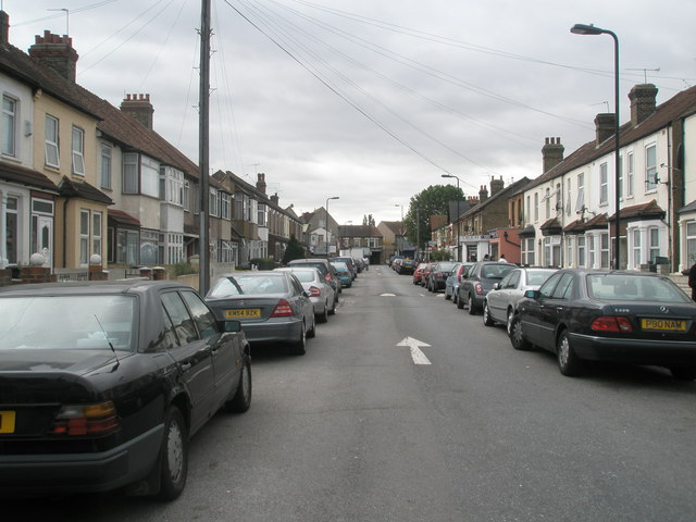 Looking down Sussex Road towards Scotts Road