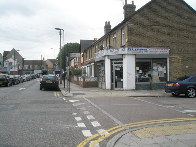 Junction of Sussex Road and Scotts Road