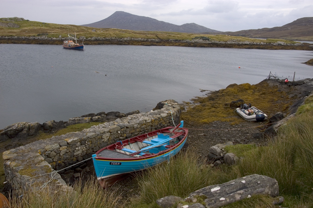 Small harbour at Bagh Mor, Griomasaigh