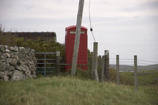 Telephone box on Baleshare