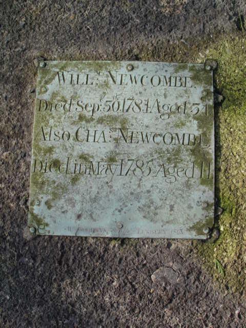 William Newcombe gravestone St Mary's Tetbury.