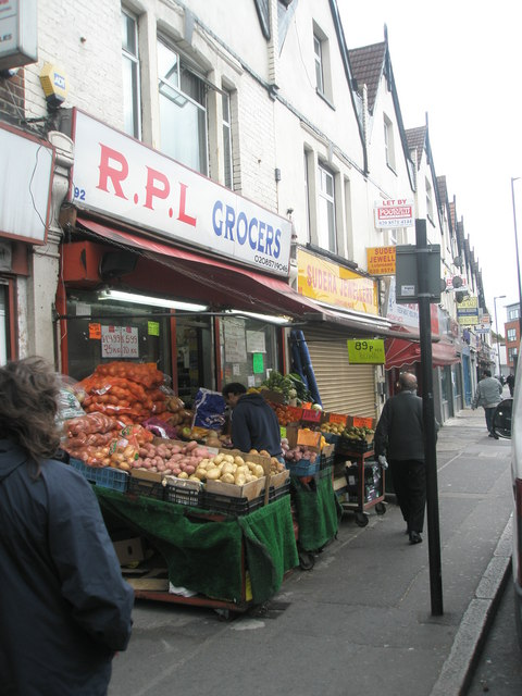 Fruit and veg display in Western Road
