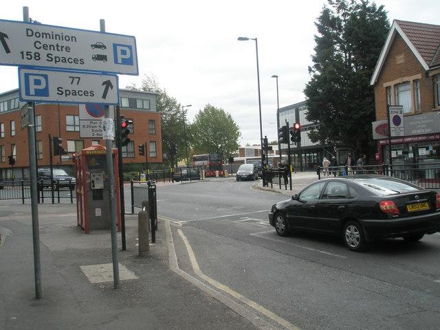 Traffic lights in Western Road