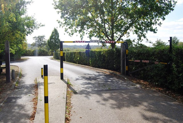 Height barriers at the entrance to Haysden Country Park