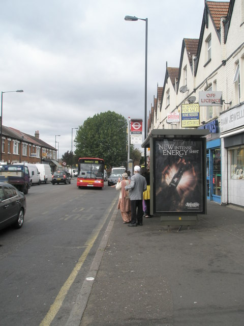 Bus shelter in Western Road