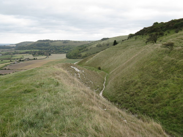 Bridleway descending to Fulking
