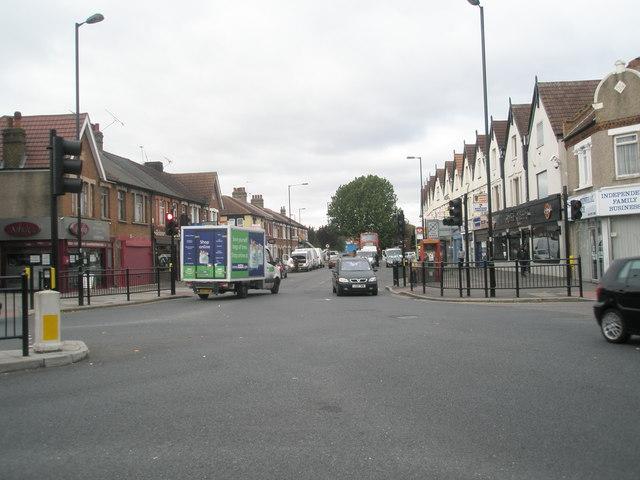 Supermarket delivery van in Western Road