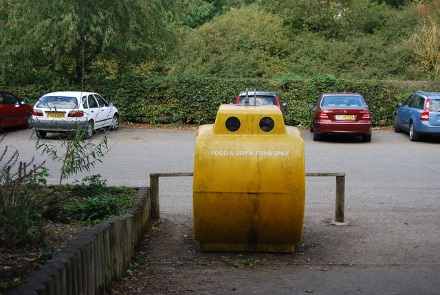 Recycling container, Haysden Country Park Car Park