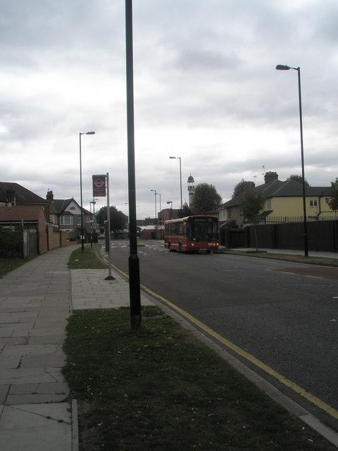 Bus stop in Montague Waye