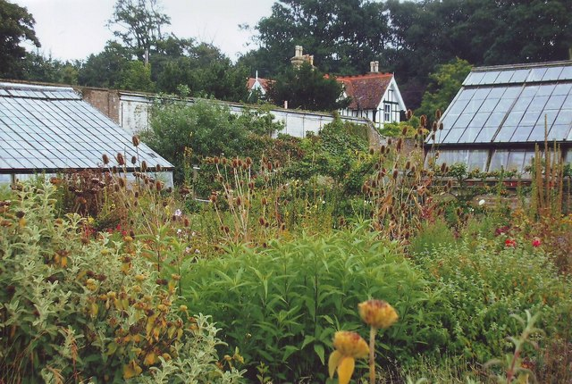 The walled garden at Quex Park, Birchington, Kent