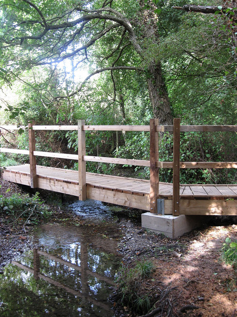 Footbridge near Drews Farm