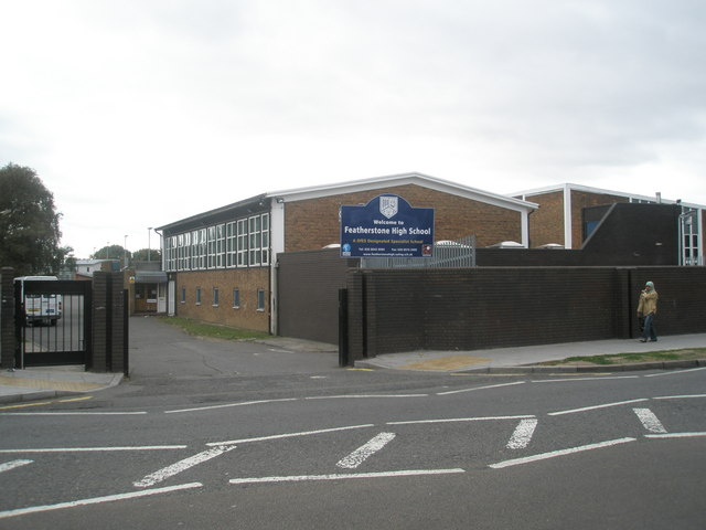 Entrance to Featherstone High School