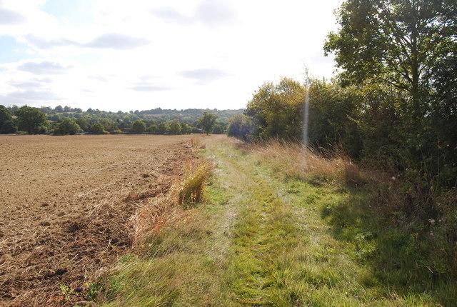 Footpath south of Lower Haysden Lane