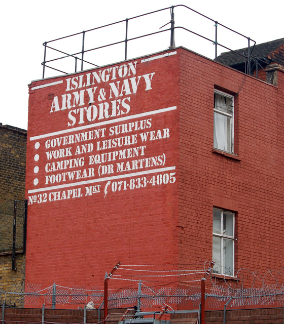 The back of the Army & Navy behind Chapel Street, Islington