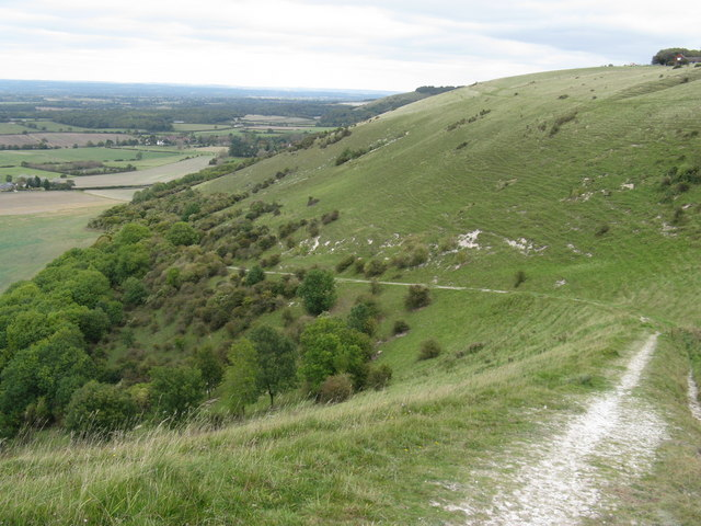 Bridleway to Poynings descending from Fulking Hill