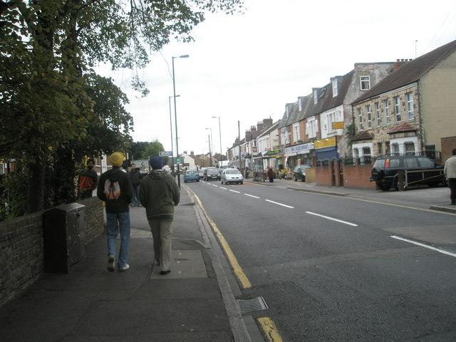Looking eastwards along Norwood Road