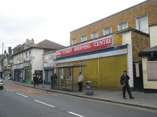 Bus shelter in King Street