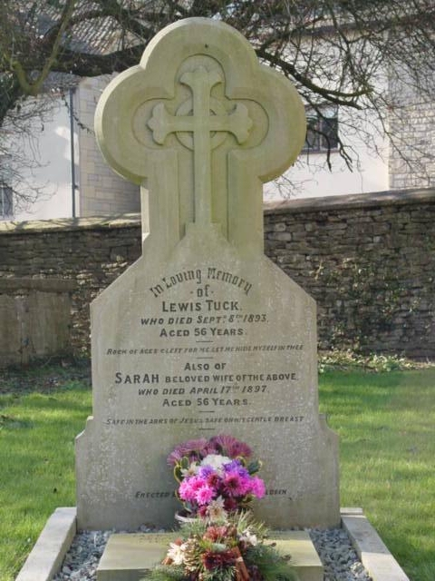 Tuck family gravestone St Mary's Tetbury.