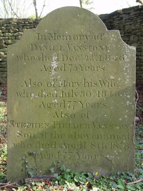 Vanstone family gravestone St Mary's Tetbury.