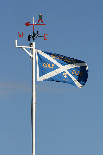 The flag at North Berwick Golf Course