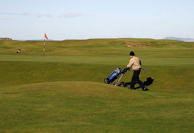 The 18th green at North Berwick Golf Course
