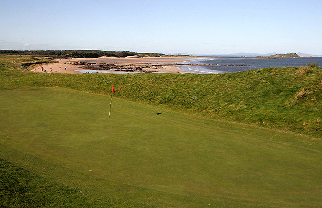 The 13th green at North Berwick Golf Course