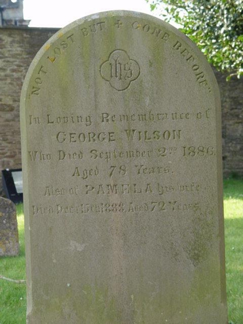 Wilson family gravestone St Mary's Tetbury.