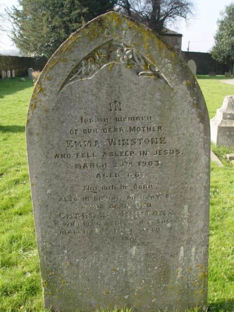 Winstone family gravestone St Mary's Tetbury