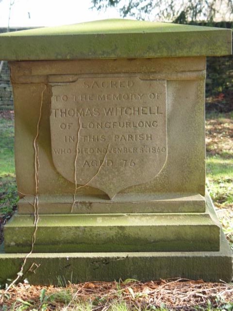Witchell gravestone St Mary's Tetbury.