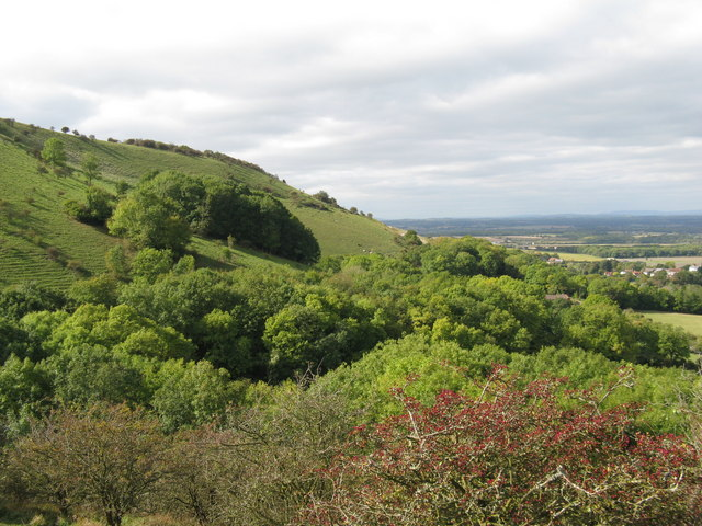 View west to the escarpment of Fulking Hill