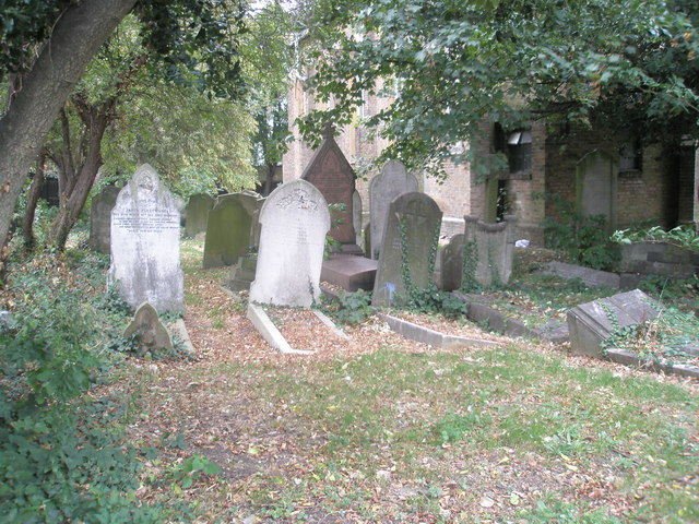 Gravestones in the old churchyard (1)