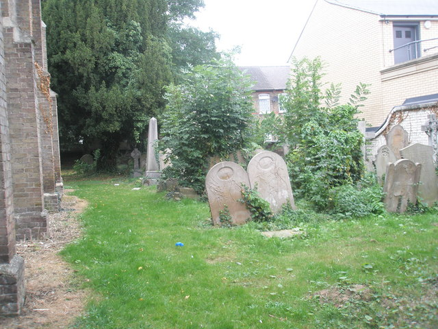 Gravestones in the old churchyard (2)