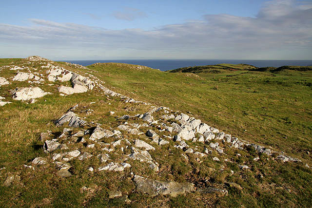 A hill fort near Coldingham Loch