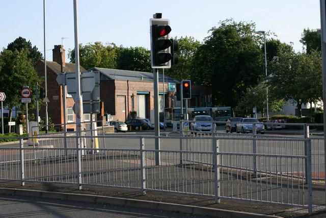 Aldergate, Hospital street, Albert Road and Upper Gungate road junction.
