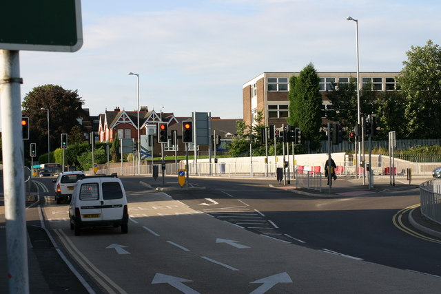 Upper Gungate and Offa Drive Road Junction  (1)