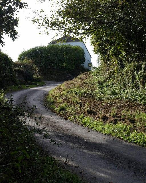 Steep hill at Rew