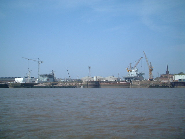 Ship repair yard, Birkenhead.