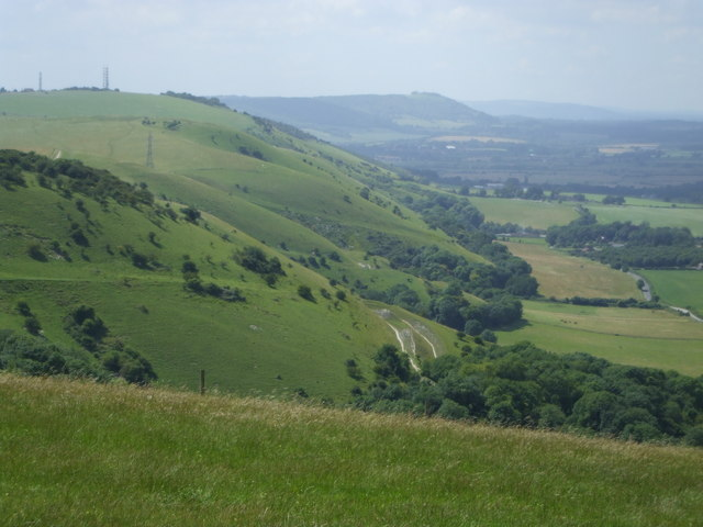 The escarpment looking west at Devil's Dyke, Sussex
