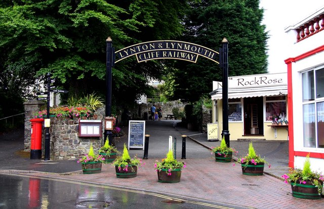 The Lynton entrance to the Cliff Railway